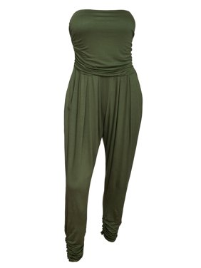 40f2869d6ef6 Product Image eVogues Plus Size Jumpsuit Olive