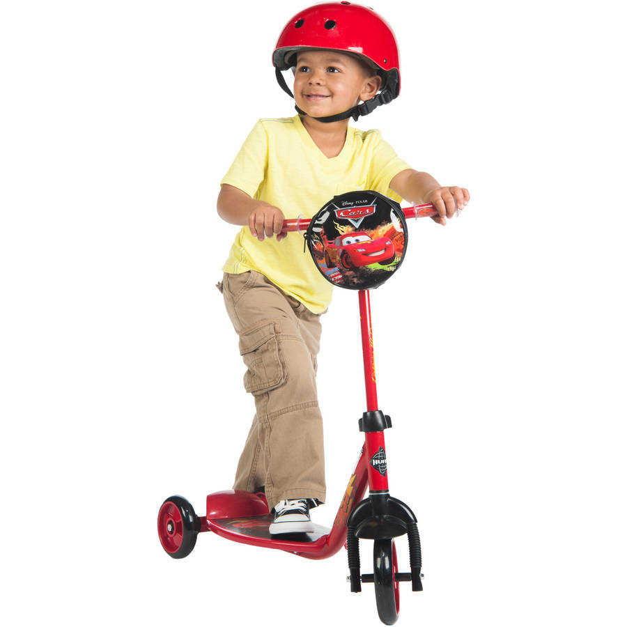 Disney Pixar Cars 3-Wheel Preschool Boys' Red Scooter, by Huffy