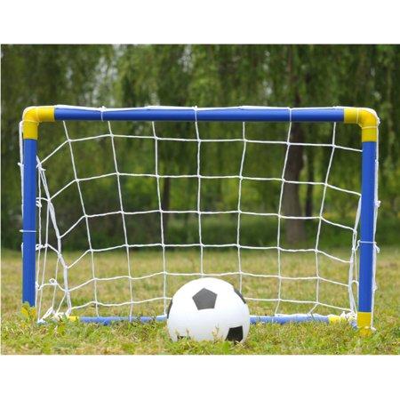 Folding Mini Football Soccer Goal Post Net Set with Pump ...