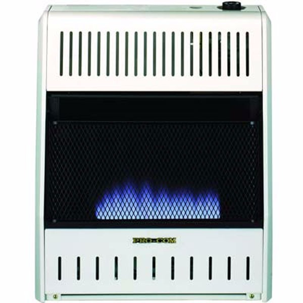 ProCom MNSD200TBA-BB Dual Propane/Natural Gas Vent-Free Blue Flame Space Heater, 20,000 BTU, Base and Blower Included
