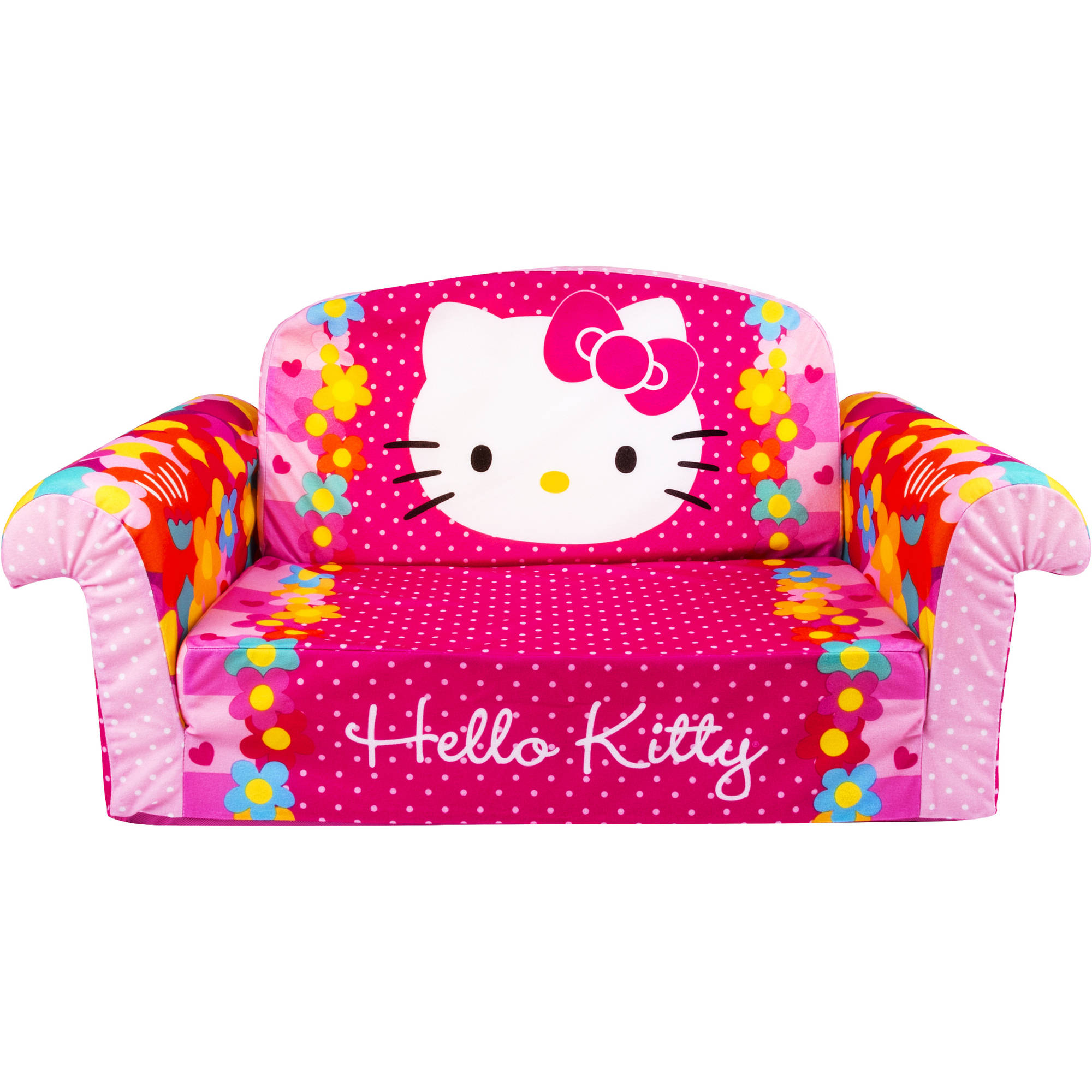 Hello Kitty, Toddler 2 in 1 Furniture Flip Open Sofa Chair