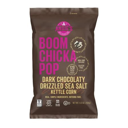 71f650f3ca53 Angie s Boomchickapop Gluten-Free Kettle Corn Dark Chocolaty Drizzled Sea  Salt Popcorn
