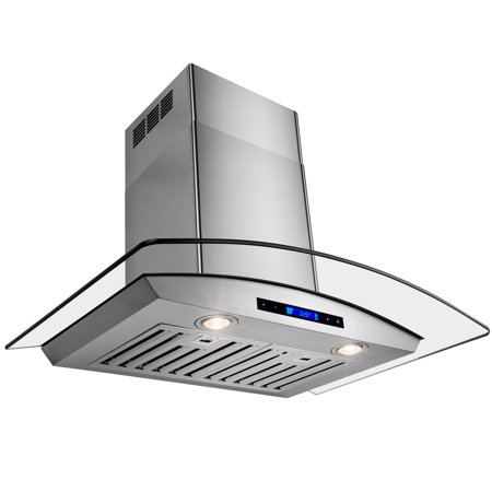 "Image of AKDY 30"" Europe Exhaust Stainless Steel Glass Wall Range Hood Stove Vent w/ Remote Control"