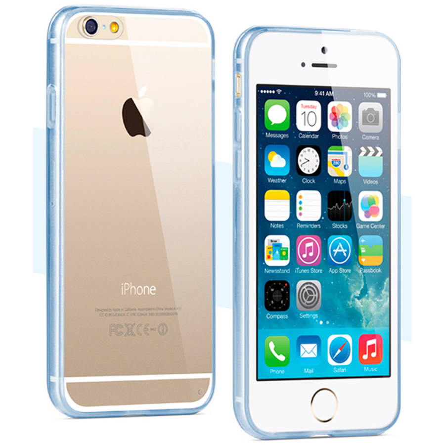 KIKO Wireless Crystal Clear Gummy Hybrid Case for Apple iPhone 6 Plus/iPhone 5.5""