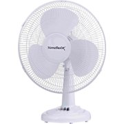 Homebasix FT40-8HC Oscillating Table Fan, 16 Inches, White