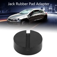 OTVIAP Car Universal Slotted Frame Rail Floor Jack Pads Jacking Rubber Pad Adapter Black, Rubber Pad, Jack Pad Adapter