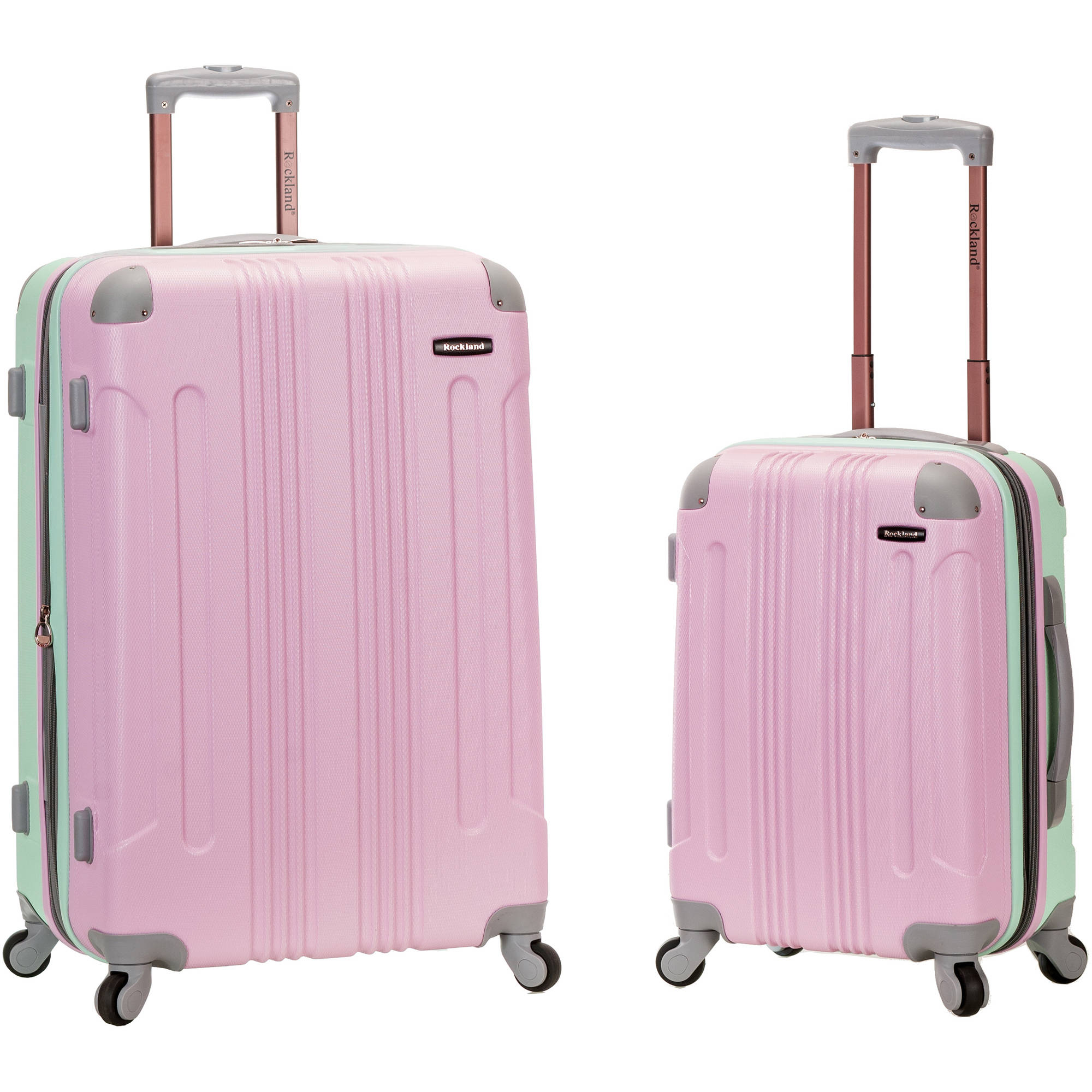 Rockland Melbourne 2-Piece Expandable ABS Spinner Luggage Set, Mint