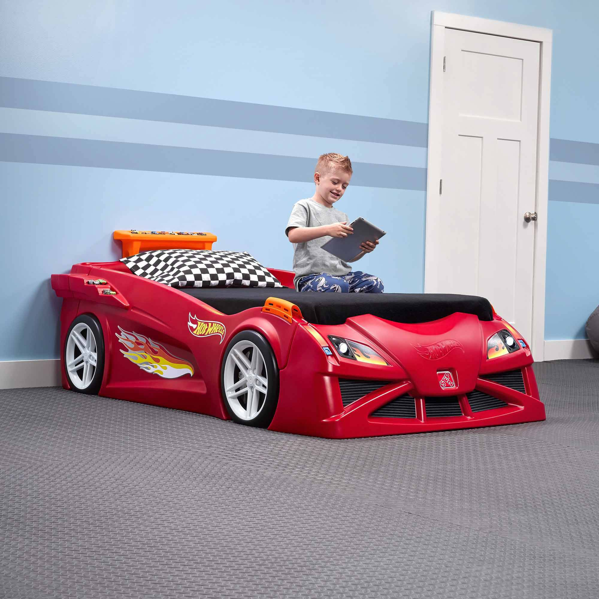 Step2 Hot Wheels Convertible Toddler To Twin Bed Red Walmart Com Walmart Com