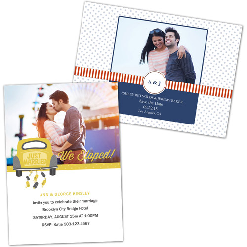 personalized wedding invitations photo greeting cards  walmart, invitation samples