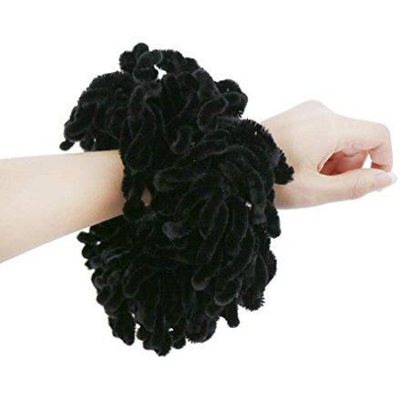 LMVERNA Volumising Hijab Scrunchie Plain Big Hair Ring Tie Bun Clip Hijab Scarf Volumizer Scarf (Black) Black Plain Clip