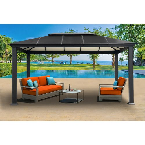 Newport 11x16 Hard Top Gazebo by Paragon Group USA