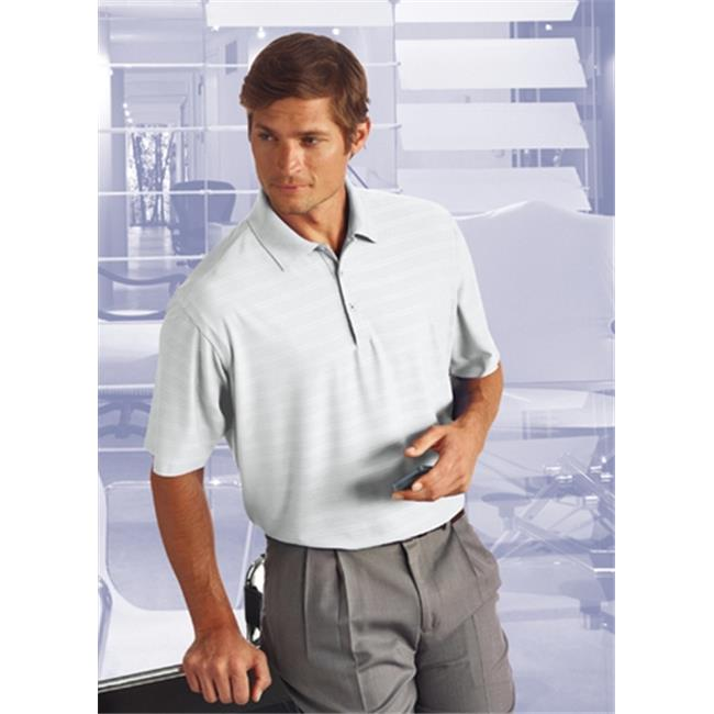 Bermuda Sands 795 Mens Cypress Comfort Stretch Textured Polo - White, Large