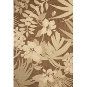 Creative Home Patio Outdoor Area Rugs - 36012-470 Outdoor Brown Tropical Flowers Palms Rug