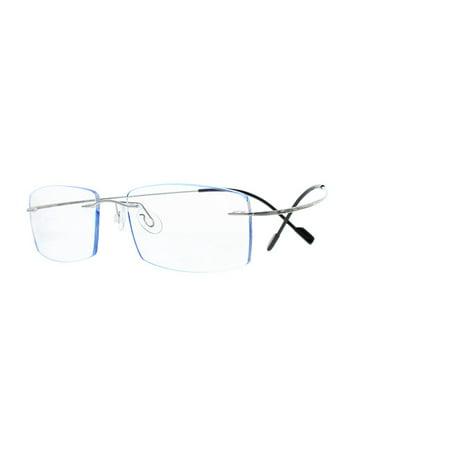 b30b75f3aa5c Ebe Reading Glasses Mens Womens Rimless Titanium Flexible Reading Glasses  Anti Glare grade t1043 - Walmart.com