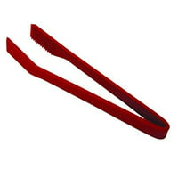 Kuhn Rikon 6-Inch Small Silicone Chef's Tongs, Red