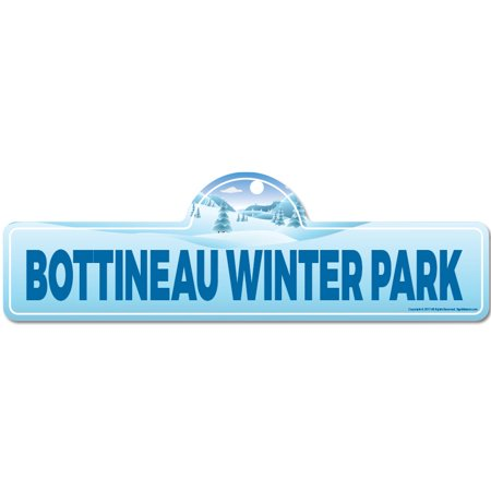 Bottineau Winter Park Street Sign | Indoor/Outdoor | Skiing, Skier, Snowboarder, Décor for Ski Lodge, Cabin, Mountian House | SignMission personalized gift - Winter Park Halloween Events