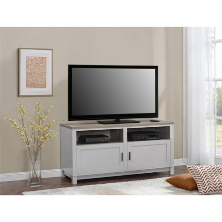 Better Homes and Gardens Langley Bay TV Stand for TVs up to 60″, Gray/Sonoma Oak