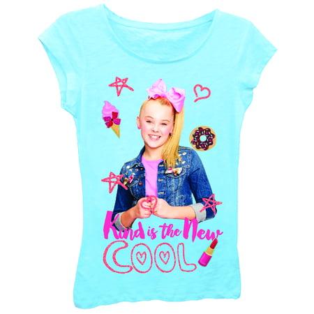 d5416c6212c75 Nickelodeon - Nickelodeon Girls' Jojo Siwa Short Sleeve T-Shirt-Small -  Walmart.com