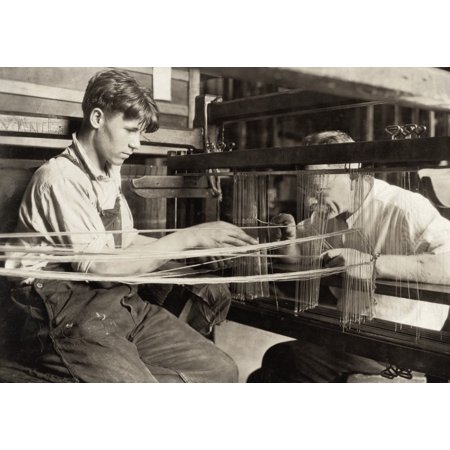 Hine: Child Labor, 1924. /Na Young Worker And An Older Worker Weaving Silk At The Cheney Silk Mill In Manchester, Connecticut. Photograph By Lewis Hine, 1924. Poster Print by Granger Collection