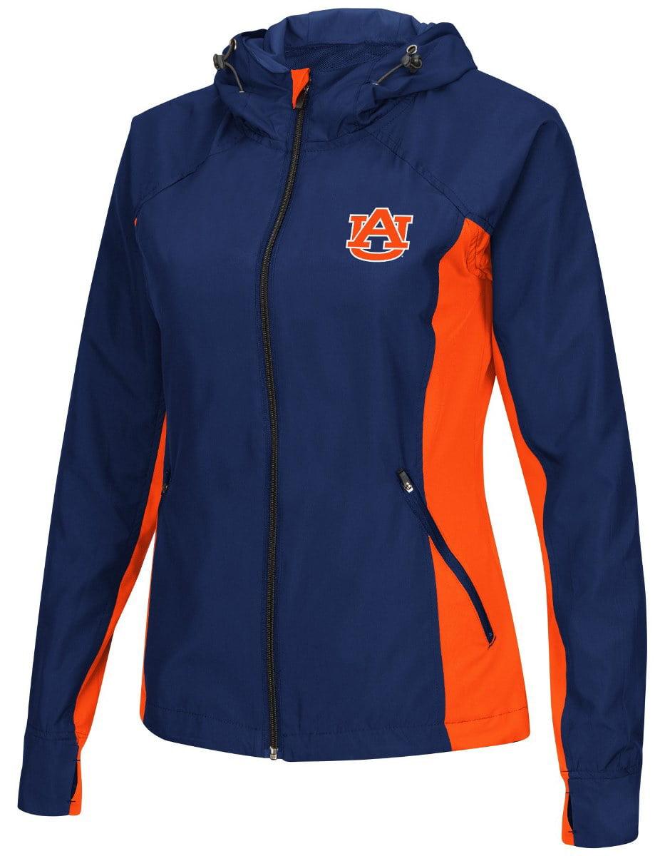 """Auburn Tigers NCAA Women's """"Step Out"""" Full Zip Windbreaker Jacket by Colosseum"""