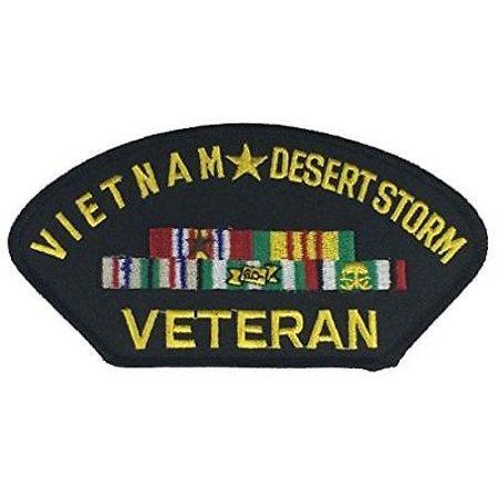VIETNAM DESERT STORM VETERAN W/ CAMPAIGN RIBBONS PATCH ODS GULF WAR NAM - Gulf War Veteran Patch