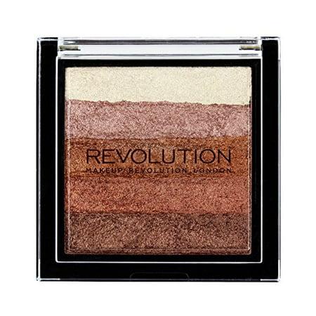 Makeup Revolution Vivid Shimmer Brick Bronzer Highlighter, Rose Gold - image 1 de 1