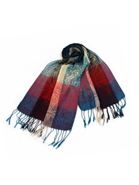 Pa-a09-3 Moon & Stars & Roses Elegant Fashion Smooth Touch Tassel Ends Pashmina/Shawl/Scarf