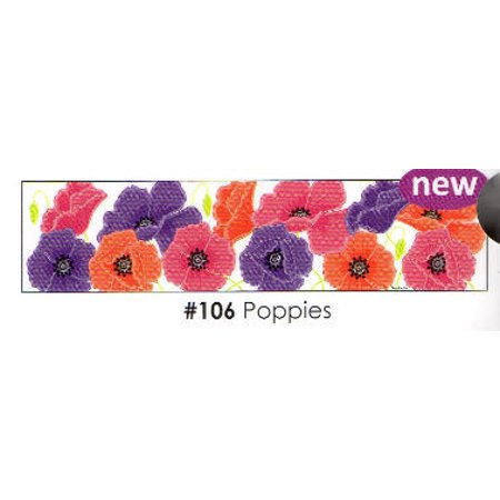 - Poppies 3 Strips Edible Frosting Photo Cake Border Decoration