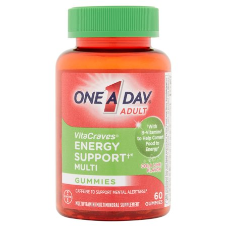 One A Day Adult Vitacraves Energy Support Gummies Multivitamin  60 Ct
