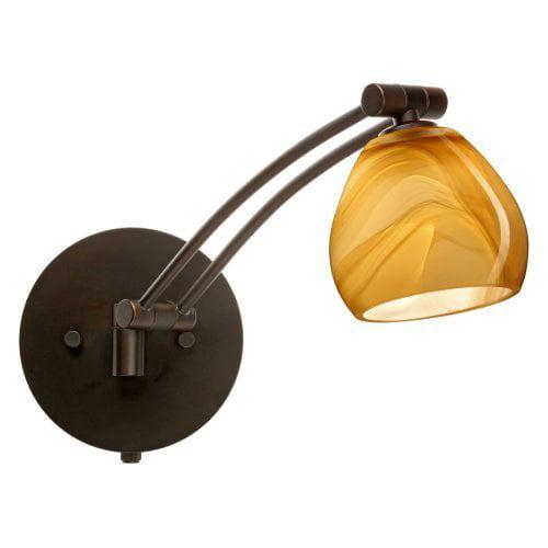 Besa 1WW-5605HN Honey Tay Tay Wall Light