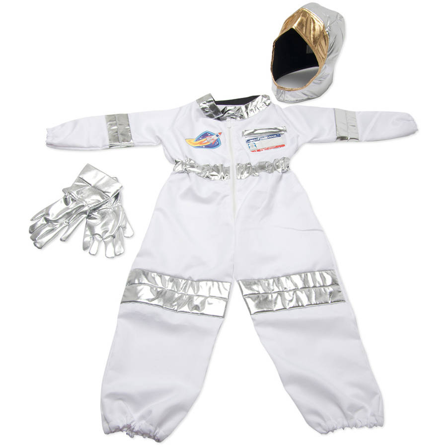 Melissa & Doug Astronaut Role Play Costume Set, 5pc, Jumpsuit, Helmet, Gloves, Name Tag