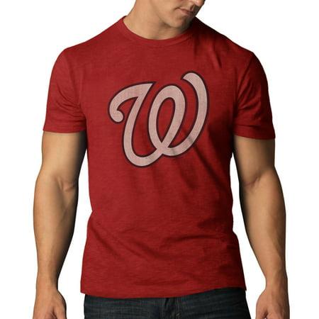 Washington Nationals 47 Brand Rescue Red Soft Cotton Scrum T-Shirt by