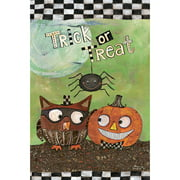 """Well Street by Lang """"Trick Or Treat"""" Mini Garden Flag, 12"""" x 18"""""""