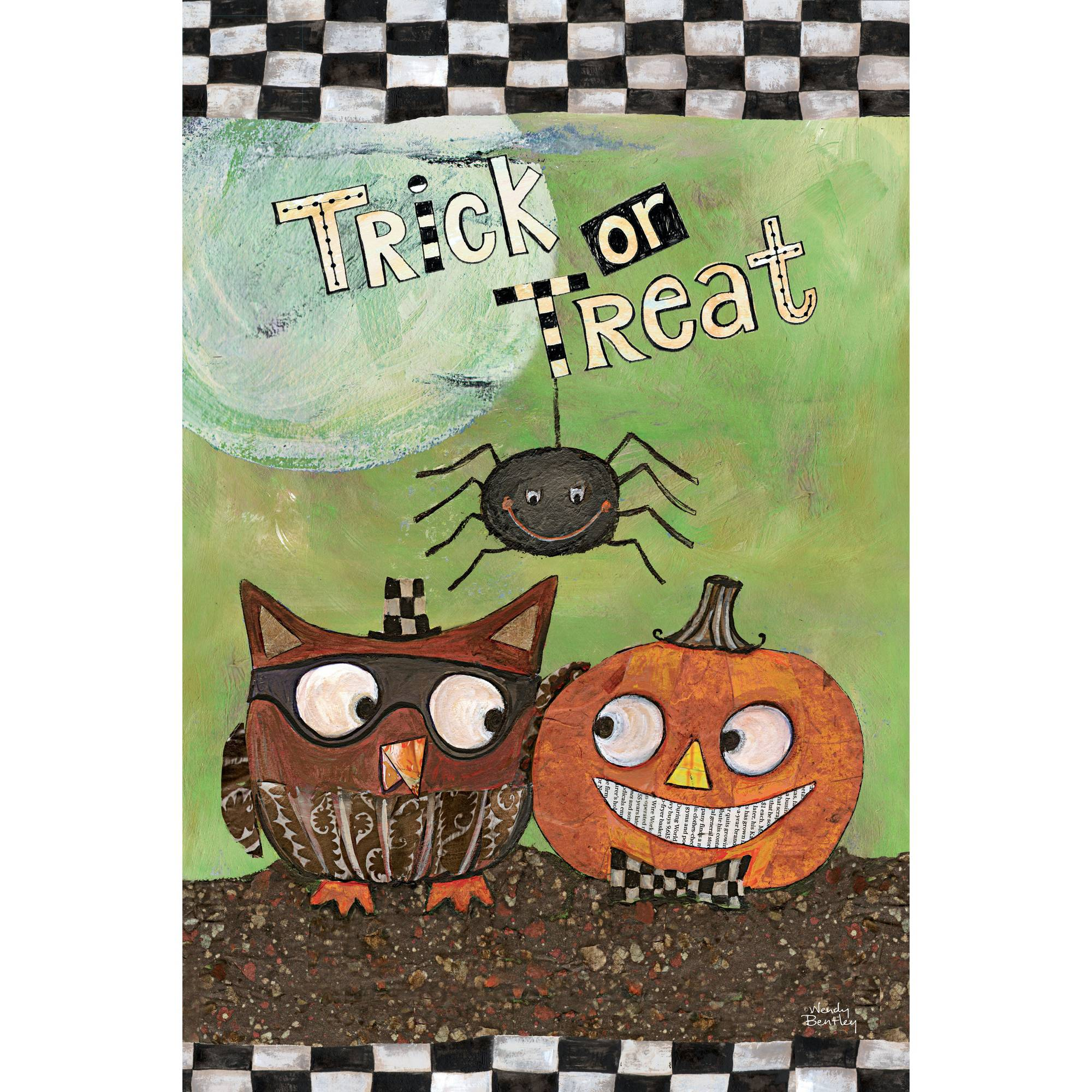 "Well Street by Lang ""Trick Or Treat"" Mini Garden Flag, 12"" x 18"""