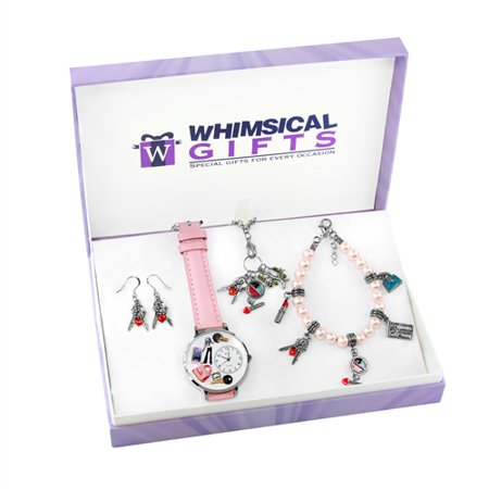 Whimsical Gifts Teen Girl Silver 4-piece Watch-Bracelet-Necklace-Earrings Jewelry Set - image 1 of 1