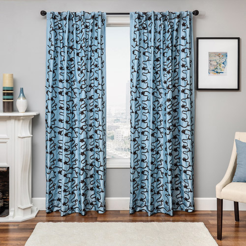 Softline Bliss Black Tab Curtain Panel