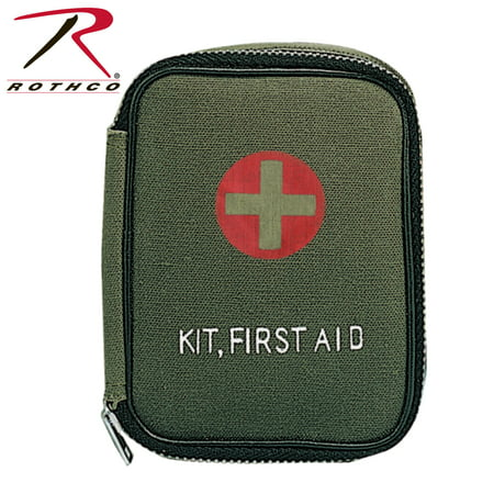 Rothco Military Zipper First Aid Pouch, Olive Drab ()