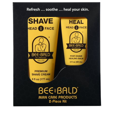 Bee Bald 2 Piece Kit Includes SHAVE & HEAL