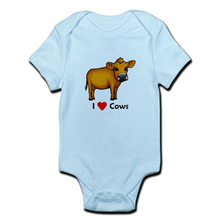 CafePress - I Love Cows Infant Bodysuit - Baby Light Bodysuit