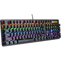 K20 Rainbow Backlight Anti-Ghosting Blue Switches Gaming Keyboard