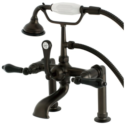 Kingston Brass Duchess Triple Handle Deck Mount Clawfoot Tub Faucet