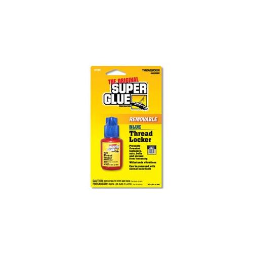 Super Glue Corp.  15190-12 Thread Locker Removable Blue- Pack of 12