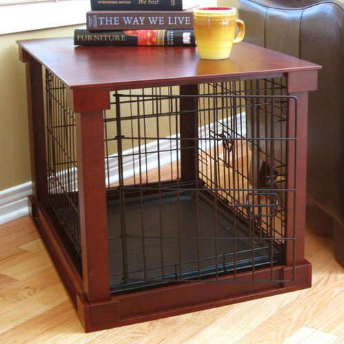 Merry Products Deluxe Pet Crate in Brown
