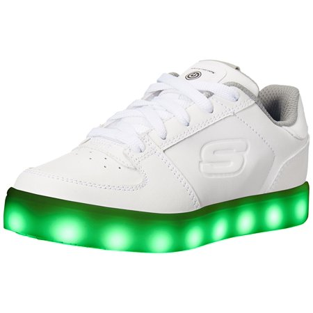 Skechers Kids Boys Energy Lights Elate Sneaker, White, 11 M US Little Kid ()