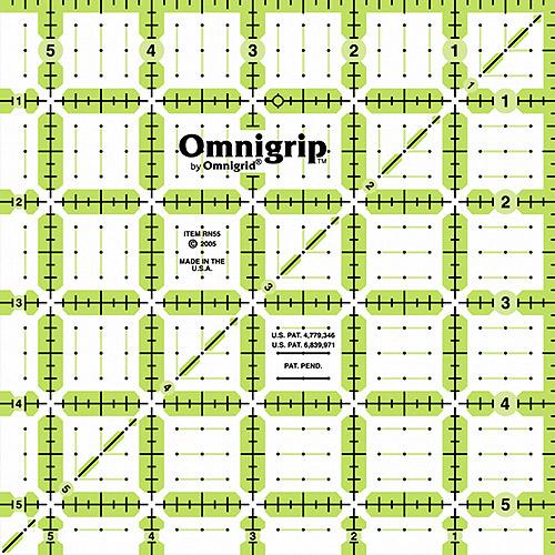 """Omnigrip Non-Slip Quilter's Ruler, 5 1/2"""" x 5 1/2"""""""