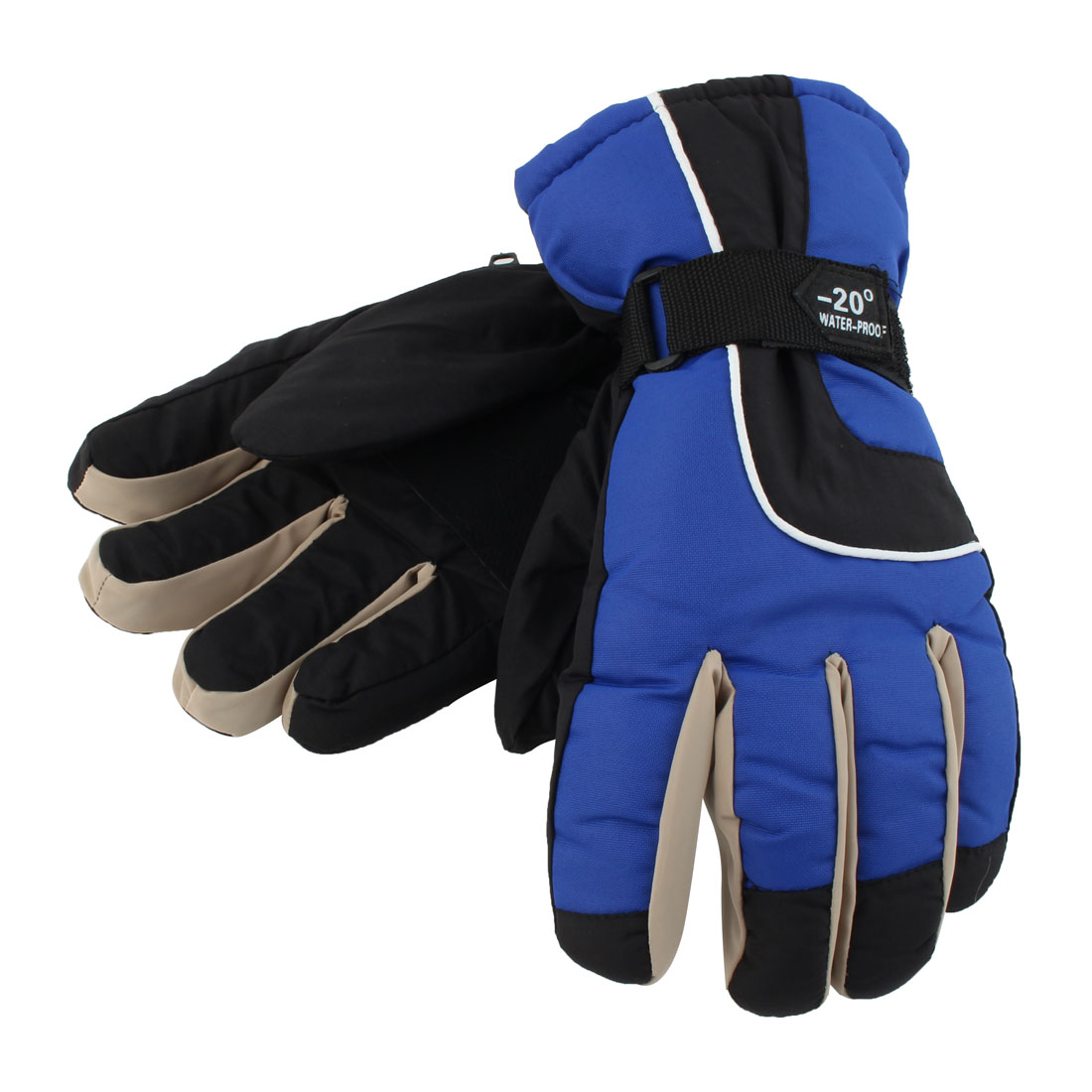 Motorcycle Climbing Snowmobile Snowboard Ski Gloves Athletic Mittens Blue
