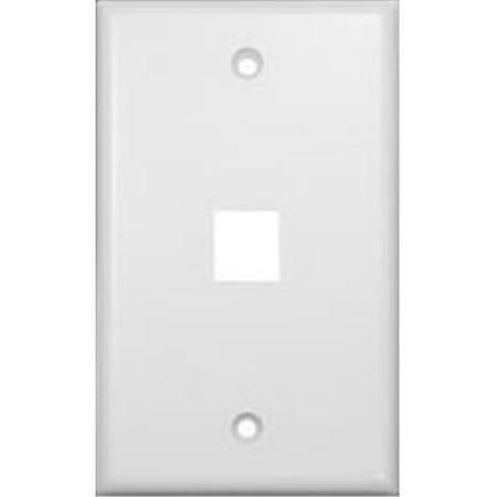 - Wallplate For Keystone Jacks And Modular Inserts One Port White