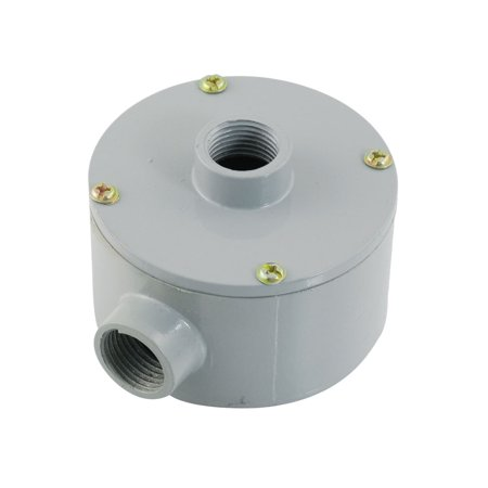 Round Metal G1/2  Threaded 3 Hole Connector Outlet Terminal Box
