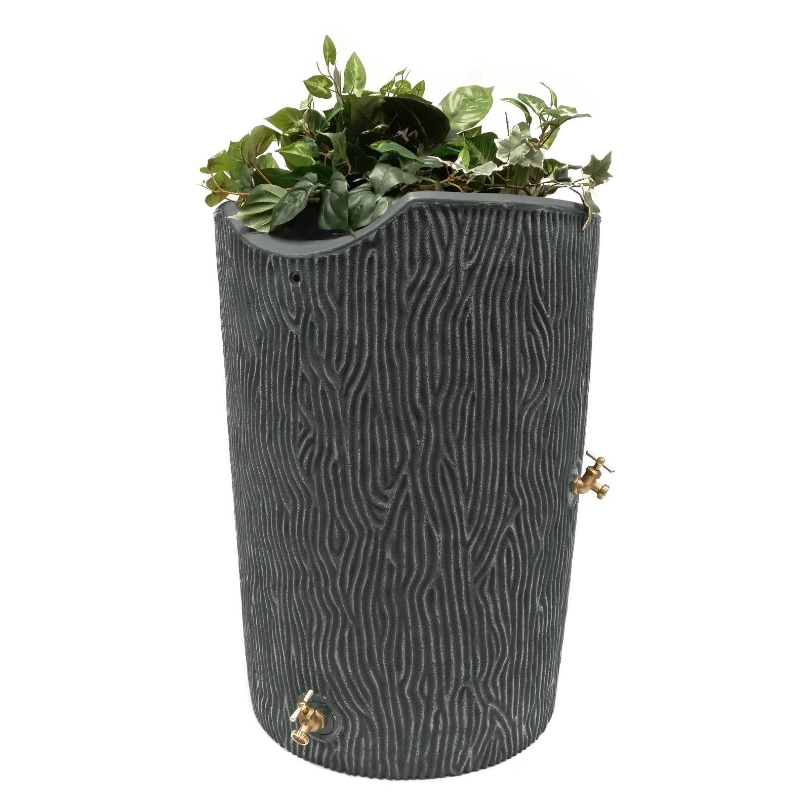 Impressions 50-Gallon Bark Rain Saver, Gray