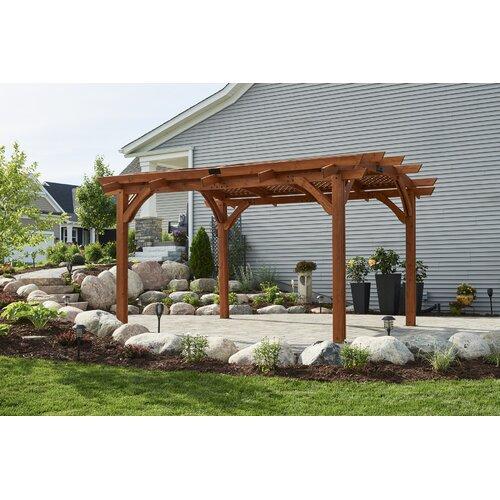 The Outdoor Greatroom Company Sonoma 12 Ft W X 16 Ft D Wood Pergola Walmart Com Walmart Com